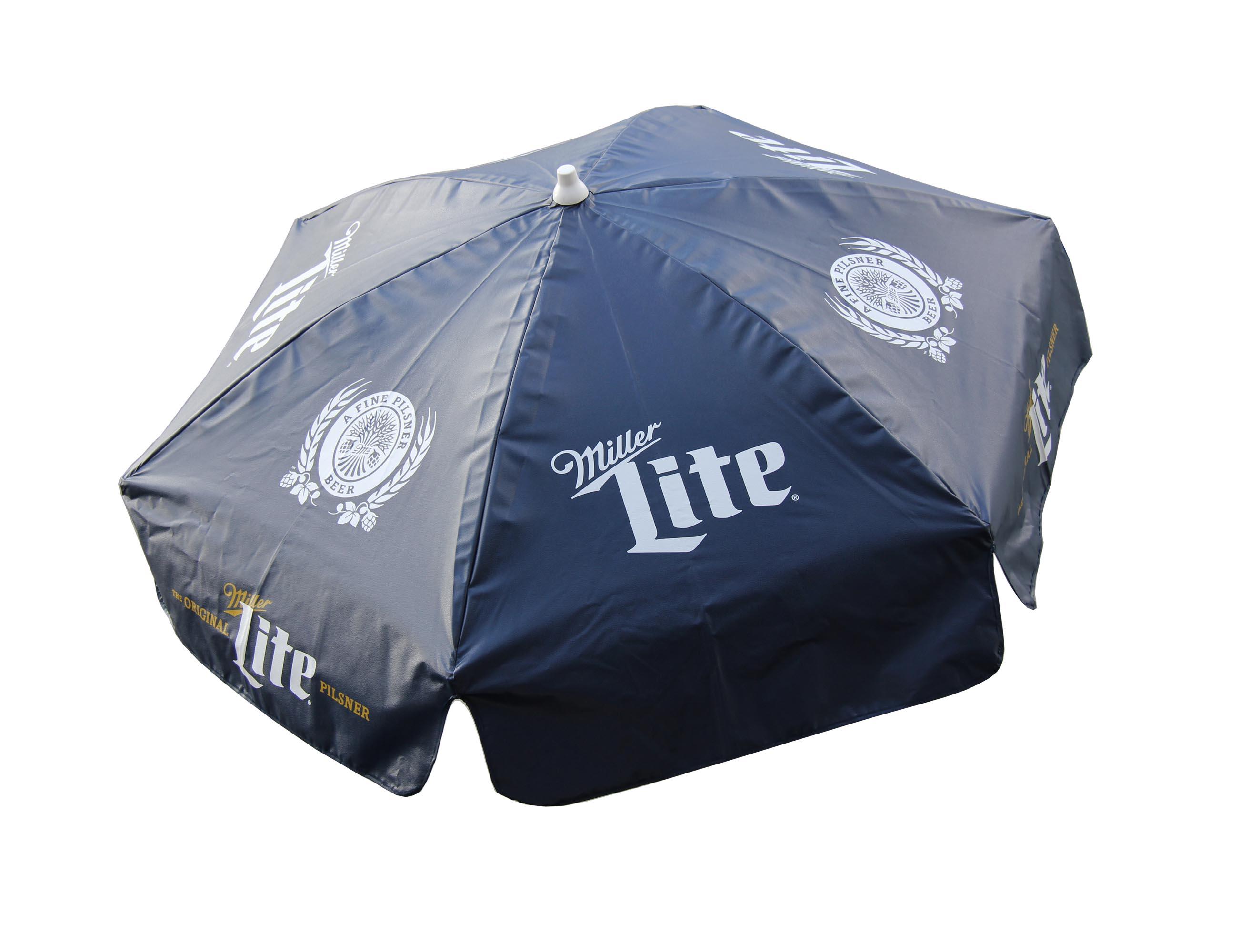6u0027 Miller Lite Vinyl Beer Patio Umbrella