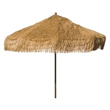 9' Whiskey Brown Palapa Tiki Umbrella