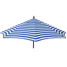 Blue and White stripe 9' umbrella
