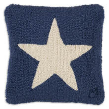 White Star on Blue Pillow