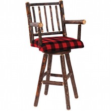 More about the 'Hickory Swivel Barstool with Arms' product