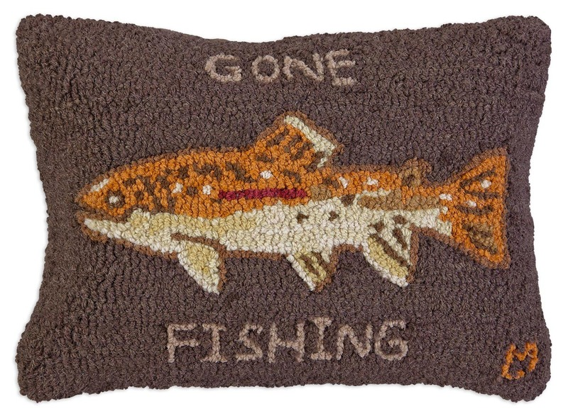 Gone Fishing Pillow by Chandler 4 Corners