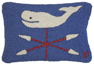 More about the 'Whale Vane Hooked Pillow by Chandler 4 Corners' product