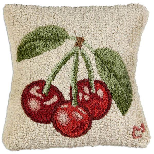 Three Cherries Pillow by Chandler 4 Corners