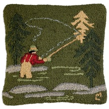 More about the 'Fly Fisherman Hooked Pillow by Chandler 4 Corners' product
