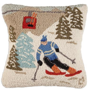 Gondola Run Hooked Pillow by Chandler 4 Corners