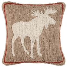 More about the 'Khaki Moose Hooked Pillow by Chandler 4 Corners' product