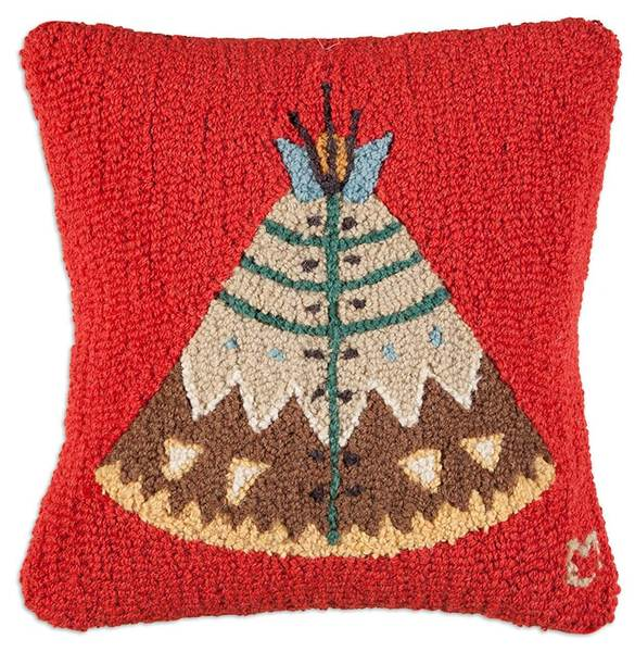 TeePee Hooked Pillow by Chandler 4 Corners