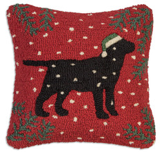 More about the 'Christmas Black Lab Pillow by Chandler 4 Corners' product