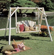 More about the 'Cedar Log Garden Swing' product