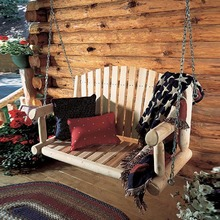 More about the 'Log Porch Swing' product