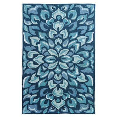 Petal Pusher Indoor Outdoor Rug by Company C