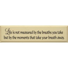 More about the 'Life Is not measured....sign' product