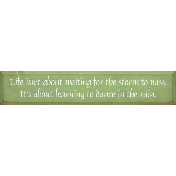 Life isn't about waiting for the storm....