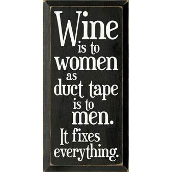Wine is to Women Sign