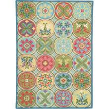 Stepping Stones Multi Hooked Wool Rug