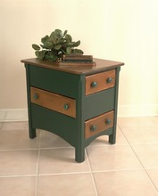 Southern Pine Shaker 3 Drawer End Table