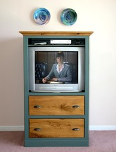 Sothern Pine TV Cabinet with Two Drawers