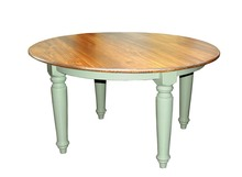 "Southern Pine 60"" Round Plank Top Farmhouse Dining Table"