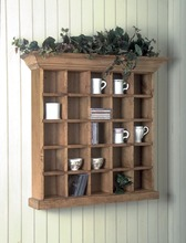 Southern Pine Curio Wall Cabinet