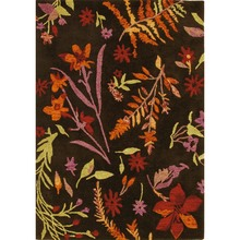 SALE 70% Off Autumn Botanical Hooked Wool Rug by Company C