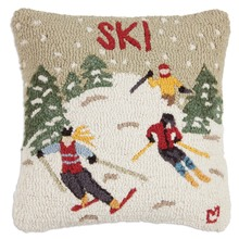 More about the 'Ski Country Hooked Pillow by Chandler 4 Corners' product