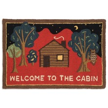 Welcome to the Cabin on Red Rug
