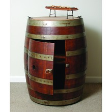 Barrel Cabinet on Casters