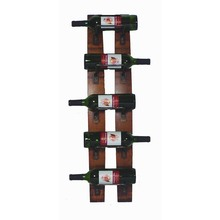 Five Bottle Wall Rack