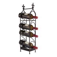 Four Bottle Wine Rack Fleur De Lis