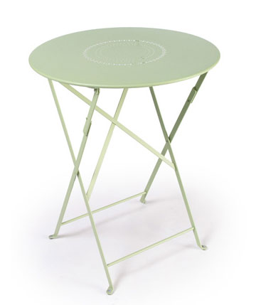 Fermob 24 Inch Folding Table With Perforations In Willow