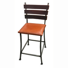 Stave Back Chair with leather seat