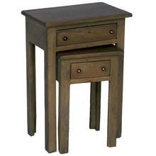 Nesting Tables with Drawers