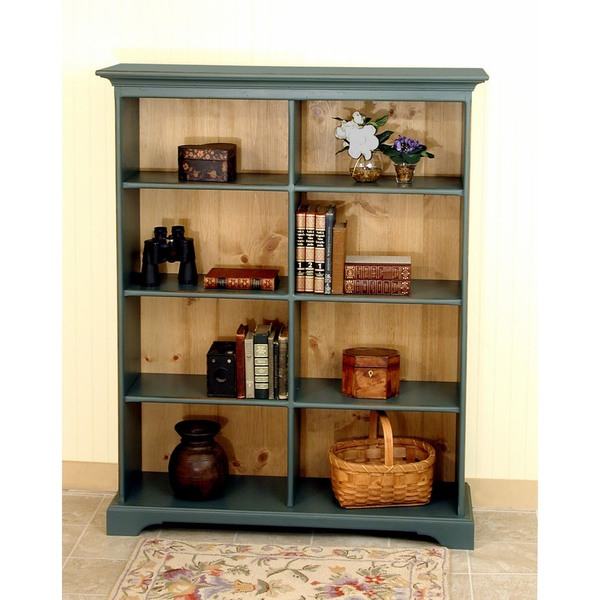 Southern Pine Tall Double Bookcase
