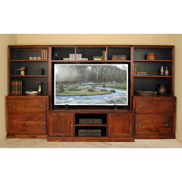 Southern Pine 4 Piece Flat Screen Media Center