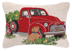 Truck Everyday Hooked Pillow