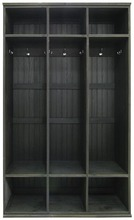 Tall 3 locker unit in Old Black