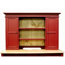 The Southern Pine Hutch Top with Doors