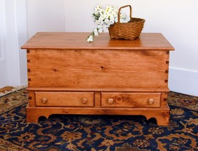 Southern Pine Shaker Trunk with Two Drawers