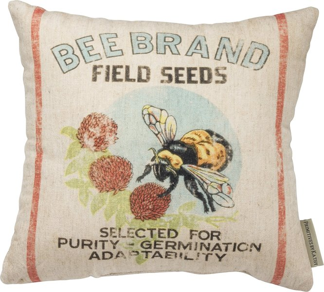 Bee Brand pillow--front