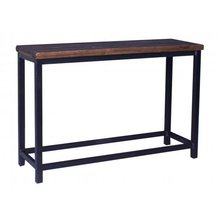 Slat Top Console Table