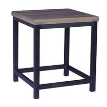 Slat Top End Table