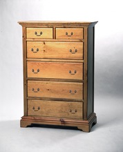 Southern Pine Six Drawer Benton Chest