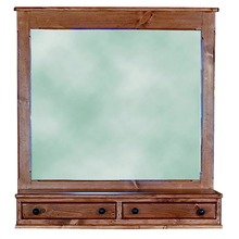 Southern Pine Bayport Mirror  with Drawers