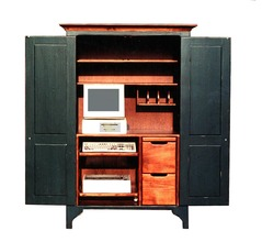 3626 Green River Computer Cabinet inside