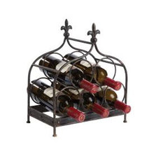 Fleur De Lis Five Bottle Wine Rack
