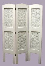 Southern Pine 3 Panel Ceiling Tin Screen Divider