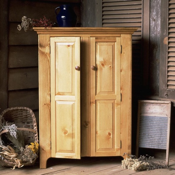 Southern Pine Two Door Jelly Cupboard