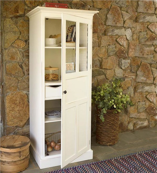Southern Pine Chicken Wire Pantry