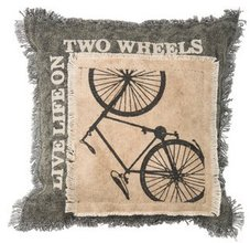 Two Wheels Pillow by Primitives